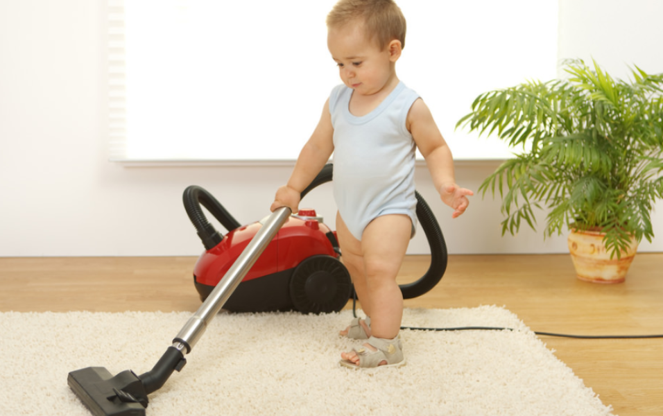 baby cleaning rug